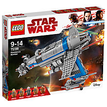 Buy LEGO Star Wars The Last Jedi 75188 Resistance Bomber Online at johnlewis.com