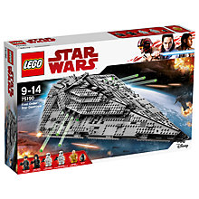 Buy LEGO Star Wars The Last Jedi 75190 First Order Star Destroyer Online at johnlewis.com