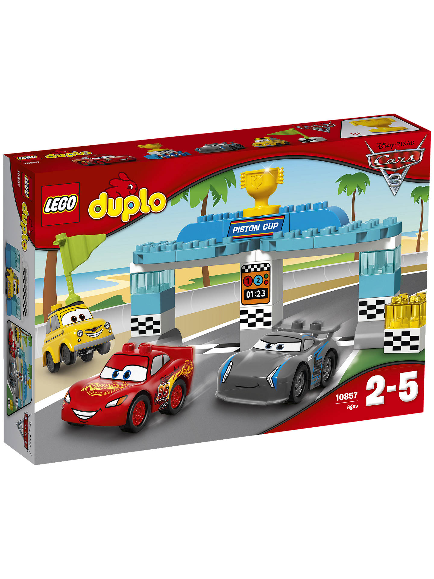 85308f3f7b0 Buy LEGO DUPLO Disney Pixar Cars 3 10857 Piston Cup Race Online at  johnlewis.com ...