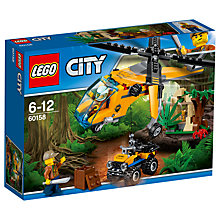 Buy LEGO City 60158 Jungle Cargo Helicopter Online at johnlewis.com