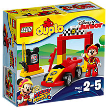 Buy LEGO DUPLO 10843 Mickey Racer Online at johnlewis.com