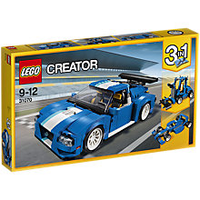 Buy LEGO Creator 31070 Turbo Track Racer Online at johnlewis.com