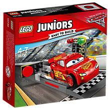 Buy LEGO Juniors 10730 Disney Pixar Cars 3 Lightning McQueen Speed Launcher Online at johnlewis.com