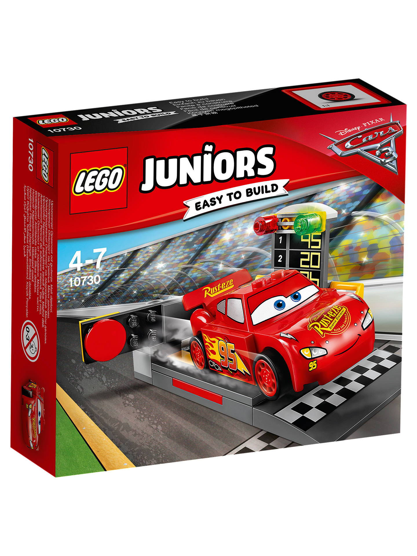 LEGO Juniors 10730 Disney Pixar Cars 3 Lightning McQueen Speed Launcher