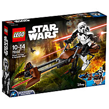 Buy LEGO Star Wars 75532 Scout Trooper & Speeder Bike Online at johnlewis.com