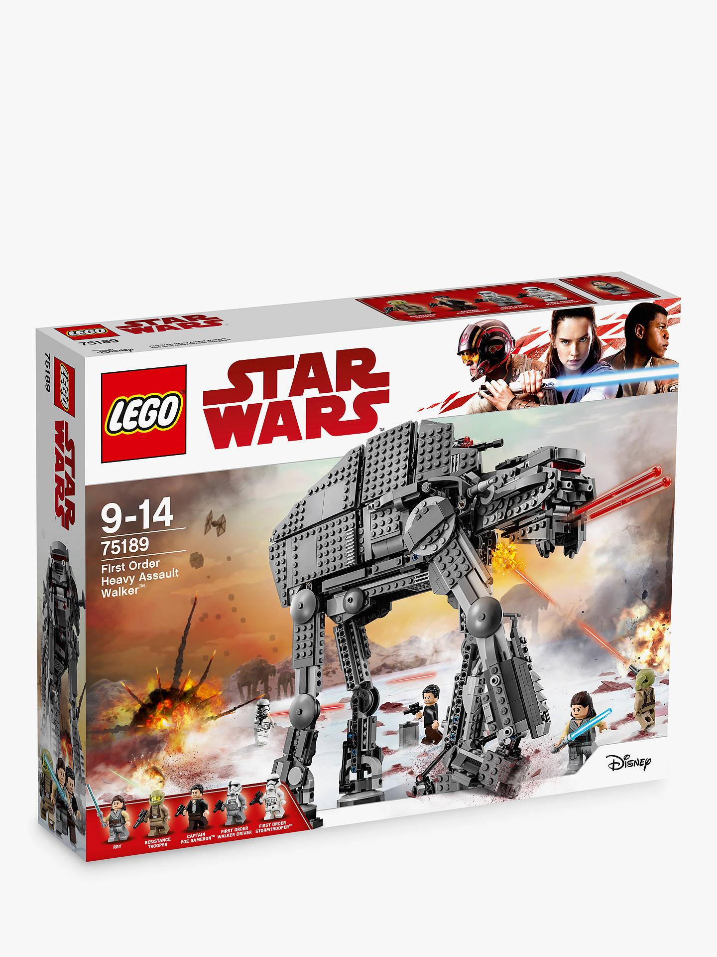 a4f7607f84f1 Buy LEGO Star Wars The Last Jedi 75189 First Order Heavy Assault Walker  Online at johnlewis ...