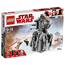 Buy LEGO Star Wars The Last Jedi 75177 First Order Heavy Scout Walker Online at johnlewis.com