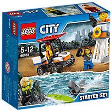 Buy LEGO City 60163 Coast Guard Starter Set Online at johnlewis.com