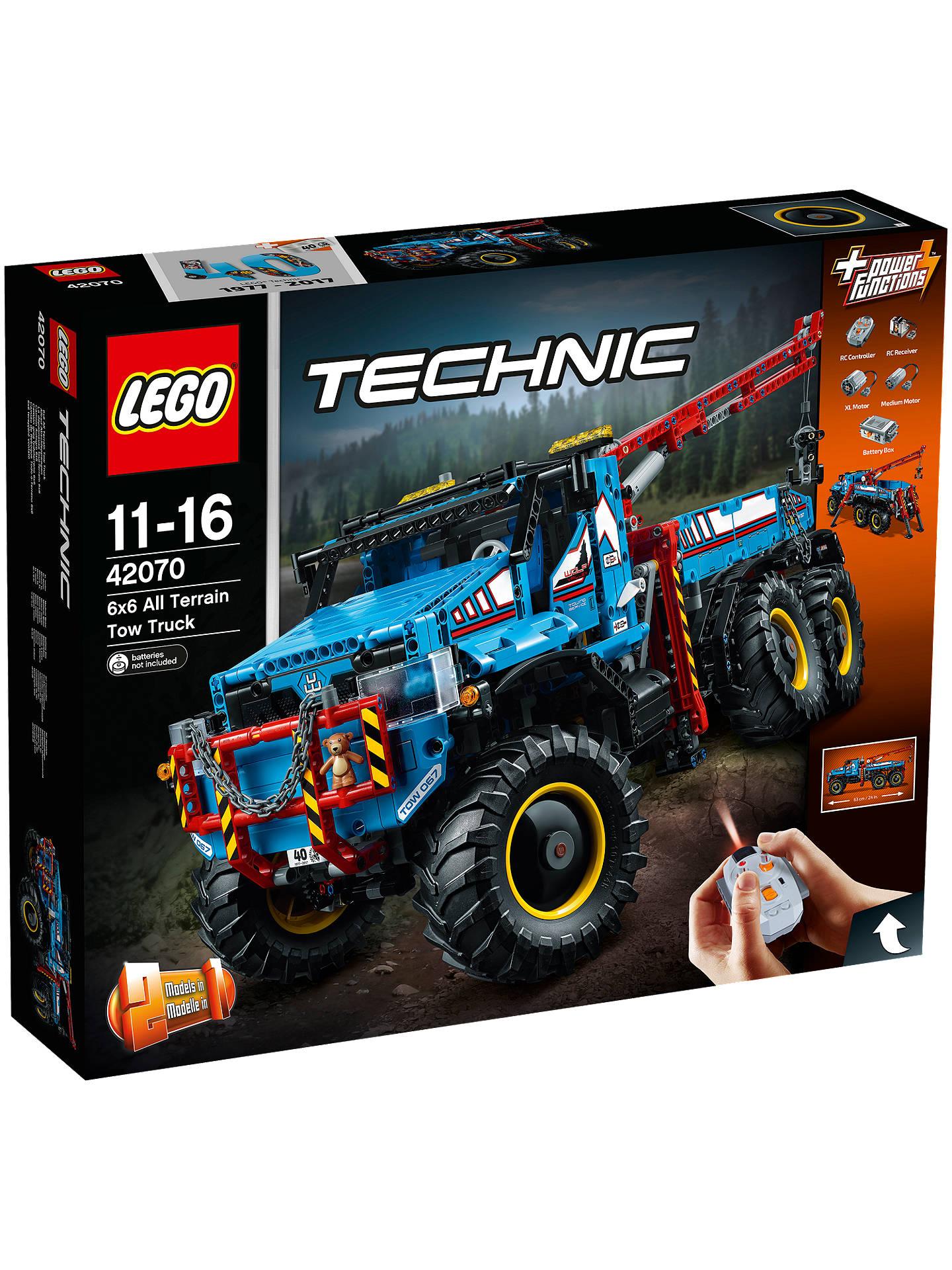 9932f0890ebda0 Buy LEGO Technic 42070 6x6 All Terrain Tow Truck Online at johnlewis.com ...