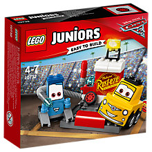 Buy LEGO Juniors 10732 Disney Pixar Cars 3 Guido and Luigi's Pit Stop Online at johnlewis.com