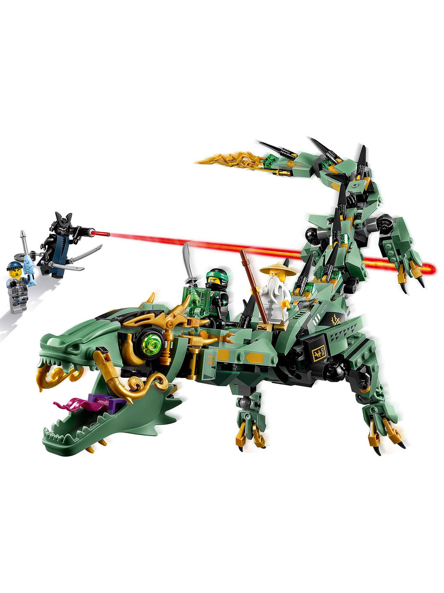 lego ninjago 70612 green ninja mech dragon at john lewis. Black Bedroom Furniture Sets. Home Design Ideas