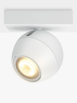 Philips Hue Ambiance Buckram LED Single Spotlight, White