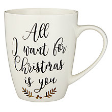 Buy John Lewis Winter Palace All I Want For Christmas Mug 370ml Online at johnlewis  sc 1 st  John Lewis & White | Christmas Tableware | John Lewis