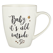 Buy John Lewis Winter Palace Baby It's Cold Outside Mug, 370ml Online at johnlewis.com