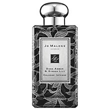 Buy Jo Malone London Dark Amber & Ginger Lily Daisy Leaf Lace Bottle, 100ml Online at johnlewis.com