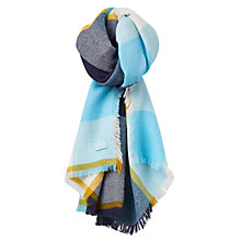 Buy Joules Berkley Check Scarf, Duck Egg Online at johnlewis.com