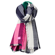 Buy Joules Berkley Check Scarf, Pink/Multi Online at johnlewis.com