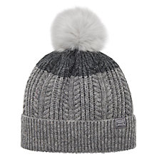 Buy Joules Two Tone Lambswool Rich Bobble Hat Online at johnlewis.com