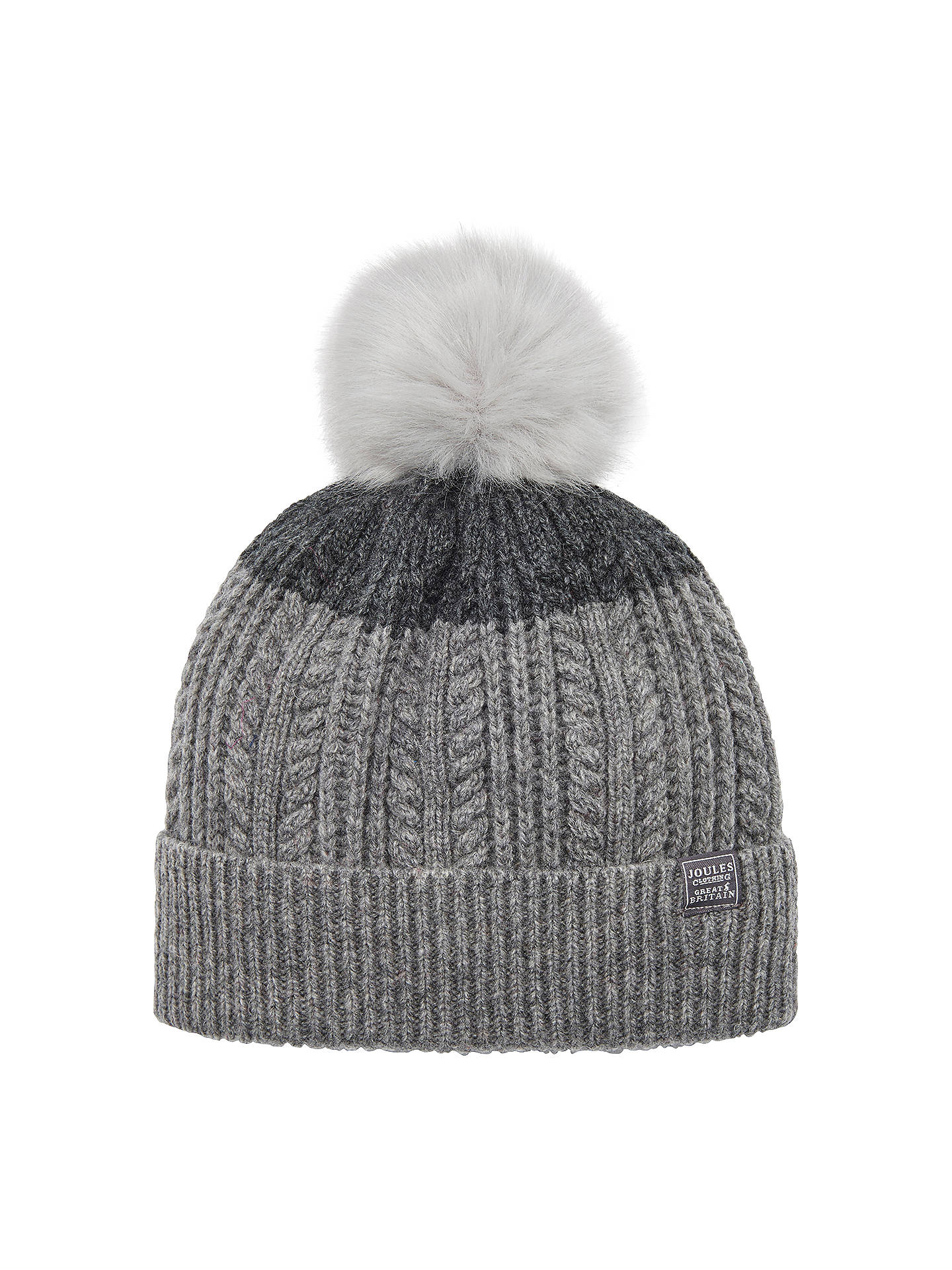 5a4a1e4156b Joules Two Tone Lambswool Rich Bobble Hat at John Lewis   Partners