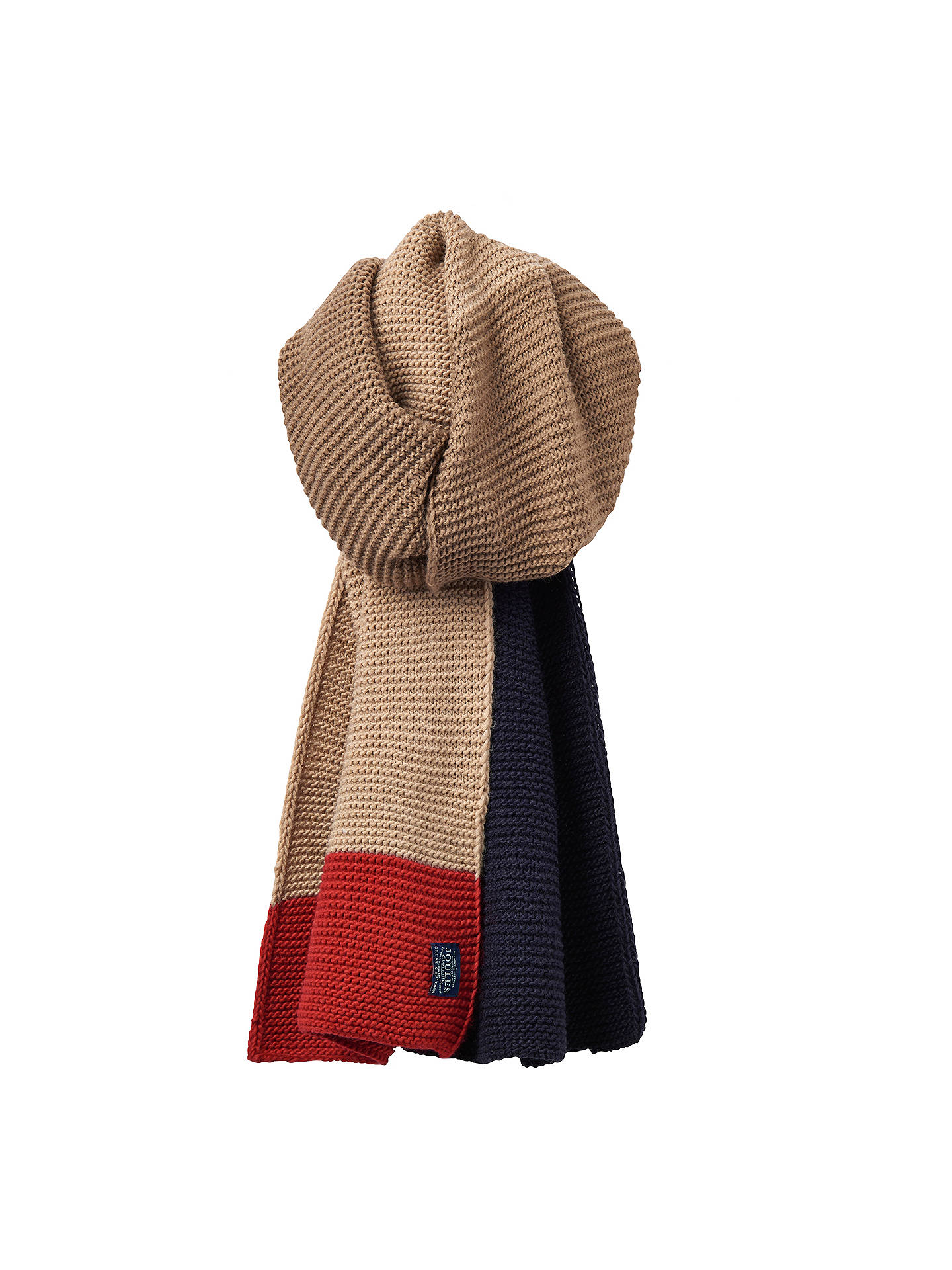 Buy Joules Annis Scarf, Dark Chino Online at johnlewis.com