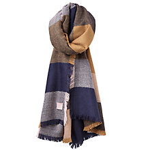 Buy Joules Berkley Check Scarf, Camel/ Multi Online at johnlewis.com