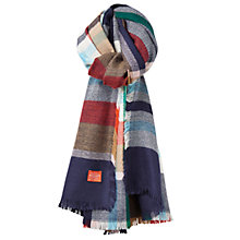 Buy Joules Berkley Check Print Scarf, French Navy Online at johnlewis.com