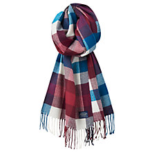 Buy Joules Bracken Check Scarf, Damson Online at johnlewis.com
