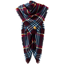 Buy Joules Heyford Check Scarf, Topaz Online at johnlewis.com