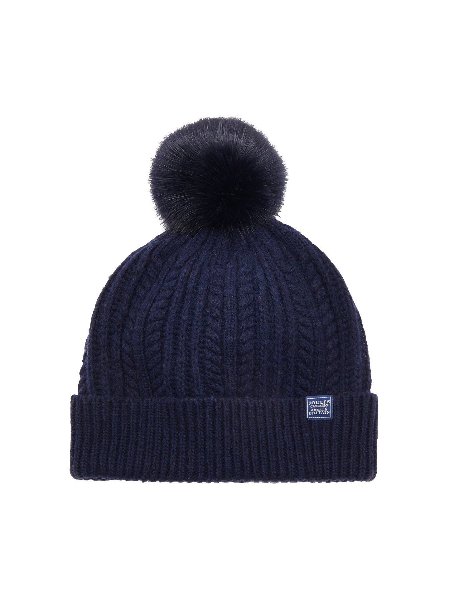 4efc9cd54fb812 Buy Joules Women's Bobble Hat, French Navy Online at johnlewis. ...