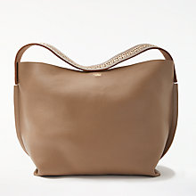 Buy Modern Rarity Leesi Leather Shoulder Bag, Taupe Online at johnlewis.com