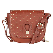 Buy Somerset by Alice Temperley Berkley Stars Leather Across Body Bag, Bourbon Online at johnlewis.com