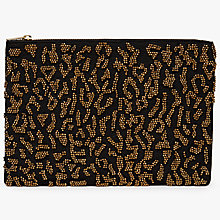 Buy John Lewis Beaded Pouch Clutch Bag, Leopard Online at johnlewis.com