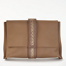 Buy Modern Rarity	Lee Leather Clutch Bag, Taupe Online at johnlewis.com