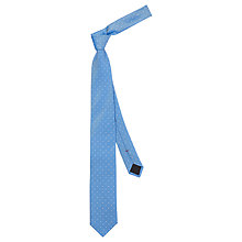 Buy HUGO by Hugo Boss Dot Silk Woven Tie, Sky Blue Online at johnlewis.com