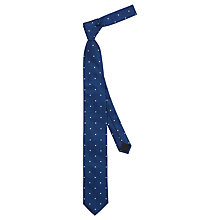 Buy HUGO by Hugo Boss Dot Silk Woven Tie, Navy Online at johnlewis.com