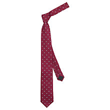Buy HUGO by Hugo Boss Square Silk Tie, Burgundy Online at johnlewis.com