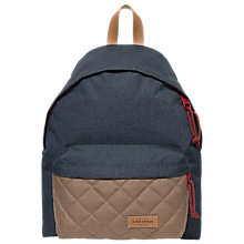 Buy Eastpak Padded Pak'r Backpack, Quilt Blue Online at johnlewis.com
