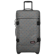 Buy Eastpak Tranverz Medium 2-Wheel Holdall, Trio Dots Online at johnlewis.com