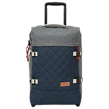 Buy Eastpak Tranverz Small 2-Wheel H51cm Cabin Case, Quilt Grey Online at johnlewis.com