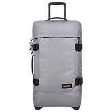 Buy Eastpak Tranverz Medium 2-Wheel Holdall, Rubber Grey Online at johnlewis.com