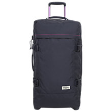 Buy Eastpak Tranverz Large 79cm 2-Wheel Suitcase, Navy Stitched Online at johnlewis.com