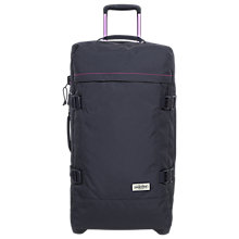 Buy Eastpak Tranverz Medium 2-Wheel Holdall, Navy Stitched Online at johnlewis.com