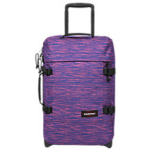 Buy Eastpak Tranverz Small 2-Wheel H51cm Cabin Case, Knit Pink Online at johnlewis.com