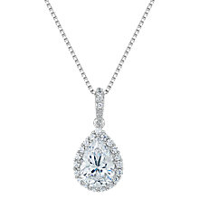 Buy Jools by Jenny Brown Cubic Zirconia Foiled Teardrop Pendant Necklace, Silver Online at johnlewis.com