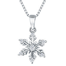 Buy Jools by Jenny Brown Cubic Zirconia Glistening Snowflake Necklace, Silver Online at johnlewis.com