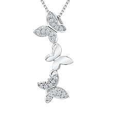 Buy Jools by Jenny Brown Cubic Zirconia Butterfly Chain Necklace, Silver Online at johnlewis.com