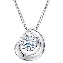Buy Jools by Jenny Brown Cubic Zirconia Nestled Stone Necklace, Silver Online at johnlewis.com