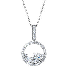 Buy Jools by Jenny Brown Cubic Zirconia Gathered Gems Necklace, Silver Online at johnlewis.com