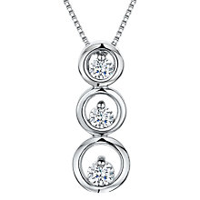 Buy Jools by Jenny Brown Cubic Zirconia Three Tiered Circle Necklace, Silver Online at johnlewis.com