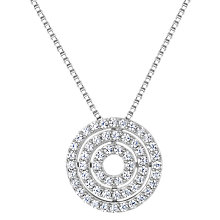 Buy Jools by Jenny Brown Cubic Zirconia Circle Row Necklace, Silver Online at johnlewis.com